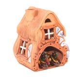 Modelo da casa pequena com patos Fotografia de Stock Royalty Free