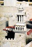 Modelo da cidade de Jerusalem foto de stock