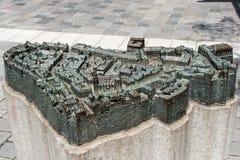 Modelo da cidade velha histórica de Bayreuth Foto de Stock