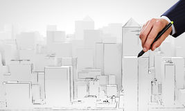 Modelo da construção Imagens de Stock
