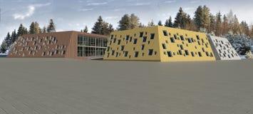 modelo da escola 3D imagem de stock
