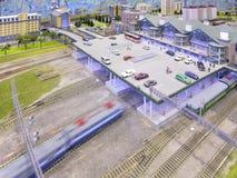 Modelo da estação de comboio fotos de stock