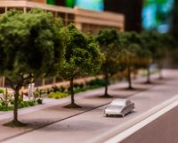 Modelo da estatueta de uma cidade imagem de stock royalty free