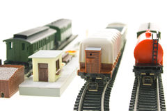 Modelo da estrada de ferro Fotografia de Stock Royalty Free