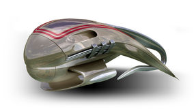 Modelo da fantasia 3D do projeto estrangeiro da nave espacial Imagem de Stock Royalty Free