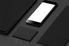 Modelo da identidade de marca Artigos de papelaria e dispositivos incorporados vazios Imagens de Stock Royalty Free