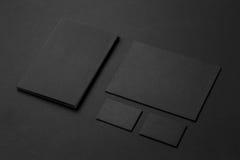 Modelo da identidade de marca Grupo incorporado vazio dos artigos de papelaria imagens de stock royalty free