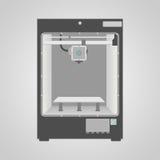 Modelo da impressora 3D ilustração stock