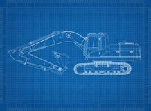 Modelo da máquina escavadora Imagens de Stock Royalty Free