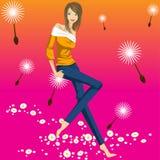 Modelo da menina Fotografia de Stock Royalty Free