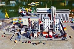 Modelo da miniatura da planta industrial Foto de Stock Royalty Free