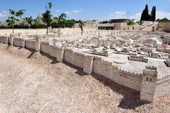 Modelo da montagem do templo no museu Jerusalem de Israel imagem de stock royalty free