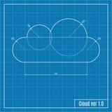 Modelo da nuvem Imagem de Stock