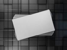Modelo da pilha do fã dos cartões 3d Fotos de Stock Royalty Free