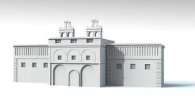Modelo da prisão 3d Fotografia de Stock