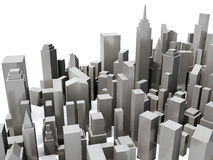 Modelo da vista aérea da cidade Fotos de Stock Royalty Free
