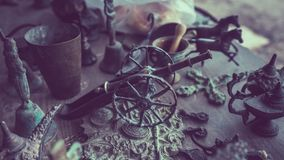 Modelo de aço da roda de tambor da arma foto de stock royalty free