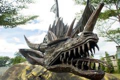 Modelo de acero del dragón Fotos de archivo libres de regalías