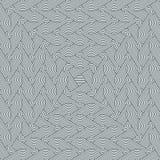 Modelo de ahusamiento inconsútil denso con la repetición de filas de círculos concéntricos ilustración del vector