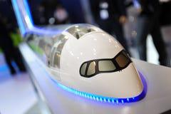 Modelo de Airbus A350-900 XWB na exposição em Singapura Airshow Imagem de Stock Royalty Free