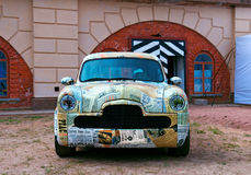 Modelo de ajustamento do carro americano velho Fotos de Stock Royalty Free