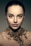 Modelo de alta-costura Girl Estilo P de Vogue da alta-costura da mulher da beleza fotografia de stock
