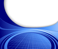 Modelo de alta tecnología azul del asunto abstracto Fotos de archivo libres de regalías