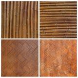 Modelo de bambú del bambú de la pared del estilo tailandés nativo Fotos de archivo