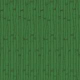 Modelo de bambú inconsútil Textura de la tinta Fondo verde dibujado mano Aliste el diseño para la materia textil, empaquetando Fotografía de archivo libre de regalías