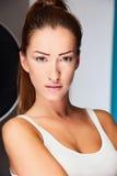 Modelo de cabelo escuro da roupa interior Foto de Stock Royalty Free