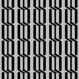 Modelo de cadena geométrico monocromático japonés stock de ilustración