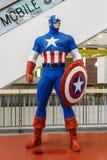 Modelo de capitán America Fotografía de archivo