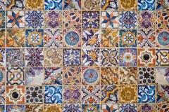 Modelo de cerámica europeo tradicional de la teja de mosaico Fotos de archivo libres de regalías