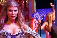 Modelo de cera de Shania Twain no museu da senhora Tussauds em Las Vegas Fotos de Stock Royalty Free
