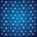 modelo de copos de nieve y de estrellas en un azul ilustración del vector