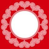 Modelo de corazones al día de tarjeta del día de San Valentín del St. Imagen de archivo