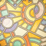 Modelo de cristal abstracto Imágenes de archivo libres de regalías