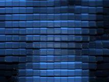 Modelo de cristal abstracto (azul) Fotografía de archivo libre de regalías