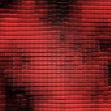 Modelo de cristal abstracto (rojo) Imagen de archivo