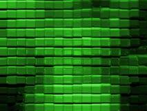 Modelo de cristal abstracto (verde) Imágenes de archivo libres de regalías