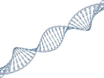 Modelo de cristal de la DNA 3d Foto de archivo