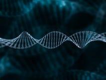 Modelo de cristal de la DNA 3d Fotografía de archivo