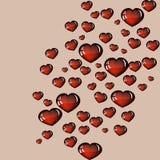 Modelo de cristal del corazón Imágenes de archivo libres de regalías