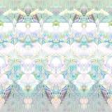 Modelo de cristal iridiscente con la exposición doble floral ilustración del vector