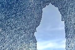 Modelo de cristal quebrado Imagenes de archivo