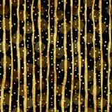 Modelo de Dots Faux Foil Metallic Stripes del oro Imagen de archivo