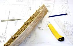 Modelo de escala de madeira Fotografia de Stock