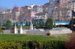Modelo de escala del palacio de Topkapı fotografía de archivo
