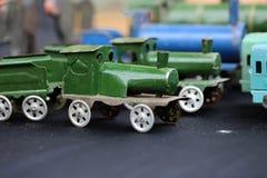 Modelo de escala del tren del vapor Foto de archivo libre de regalías
