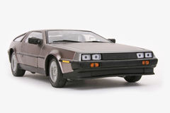 Modelo de escala Delorean Fotografia de Stock Royalty Free